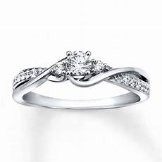 engagement ring 1 3 ct tw cut 10k white gold