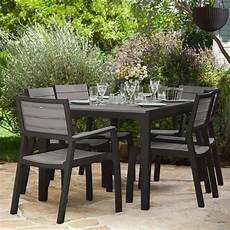 photo salon de jardin salon de jardin r 233 sine harmony table 6 fauteuils l165