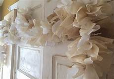 burlap wedding decor fabric and lace garland 6 10 foot rustic