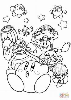 nintendo kirby coloring page free printable coloring pages
