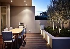 Terrasse Led Beleuchtung - led gartenbeleuchtung ideen f 252 r terrasse und blumenbeet