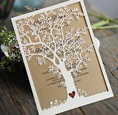 Tree Wedding Invitations laser cut tree wedding invitation fall wedding invitation