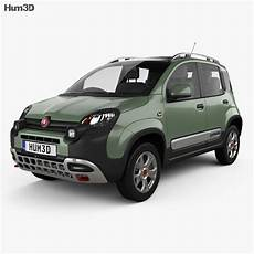 fiat panda cross 2014 3d model humster3d