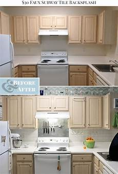 How To Paint Kitchen Tiles Before And After by 30 Faux Subway Tile Painted Backsplash Tutorial