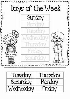 days of the week cut paste worksheet by mrs seipel s superstars