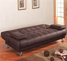 leather futon faux leather sleeper futon by coaster sleepworks