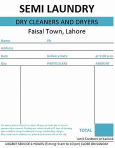 laundry invoice template laundry bill format in excel and word formats sleresume freeresume