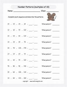 can you complete our number pattern worksheet the numbers are increasing and each step is a