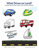 Land Vehicles  Worksheets And Articles