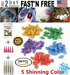 100 Pcs Cat Claw Covers Cat Nail Caps Pet Soft Claws Covers Shinning Glitter