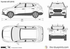 dimension hyundai ix35 the blueprints vector drawing hyundai ix35