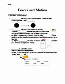 forces and motion worksheet by mrsdonovan teachers pay