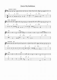 great is thy faithfulness sheet music and tabs printable pdf download