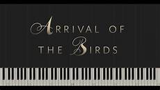arrival of the birds the cinematic orchestra synthesia piano tutorial youtube