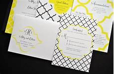 black white and yellow wedding invitations white yellow black memorable wedding invitations onewed