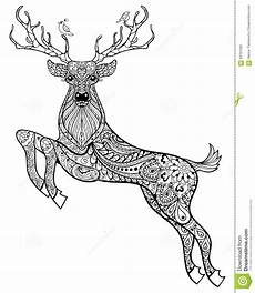 magic horned deer with birds for anti