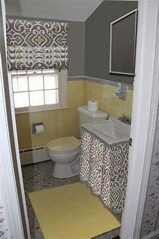 grey yellow bathroom spruce up your bathroom without a major remodel