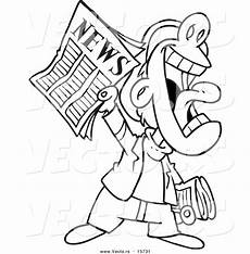 newspaper colouring pages 17708 vector of a news boy yelling an announcement