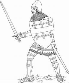 Malvorlagen Ritter Hund Ritter Mit Schild Und Schwert 2 Ausmalbild Malvorlage