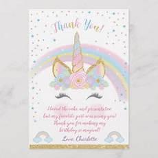 unicorn birthday invitations announcements zazzle uk