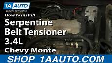 How To Replace Serpentine Belt Tensioner 95 05 Chevy Monte