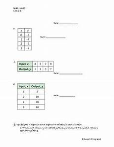writing function rules worksheet by keep it integrated tpt