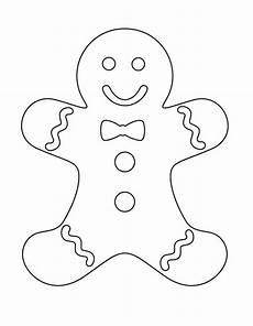 Ausmalbilder Weihnachten Lebkuchenmann Bread Coloring Pages Bastelvorlagen