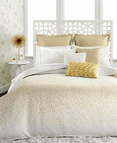 White And Gold Duvet Cover by Inc International Concepts Prosecco King Duvet Cover Set