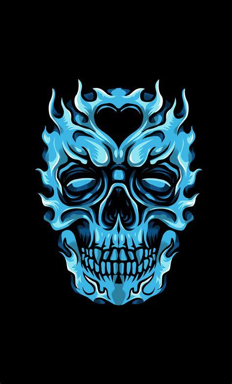 Glowing Skull Wallpaper