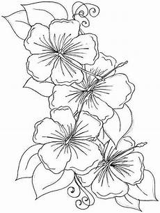 hibiscus flower coloring pages and print