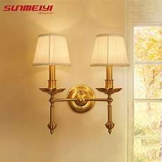 aliexpress com buy american style vintage led wall sconce double copper wall lighting laras
