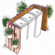 muelltonnen verstecken der perfekte pin auf jardin