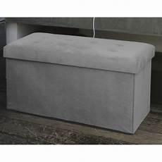 banquette de rangement sissy rectangle gris coffre