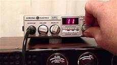 general electric no 3 5805a 40ch mobile cb radio youtube