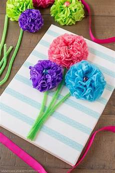 Tissue Paper Flower Bouquet Canvas 183 How To Make Wall