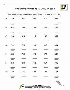 place value worksheets k5 5615 second grade place value worksheets ordering numbers to 1000 4 gif 1000 215 1294 number