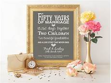 Unique 50th Wedding Anniversary Gifts Ideas