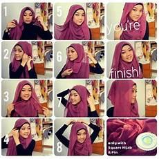 Cara Pakai Jilbab Segi Empat Modis Dan Simpel Model Jilbab