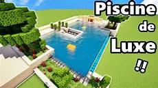 piscine de luxe comment faire une piscine de luxe sur minecraft tutoriel