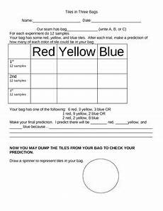 worksheets on probability for grade 3 5868 the tiles in three bags worksheet supplements marilyn burns tiles in 3 bags lesson from