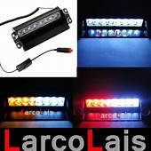 8 LED Strobe Flash Warning EMS Police Car Light Flashing