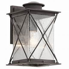 traditional ip44 outside wall light in weathered zinc with seeded glass