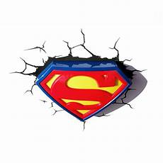 dc batman superman 3d wall lights nightlight bedroom lighting free p p ebay