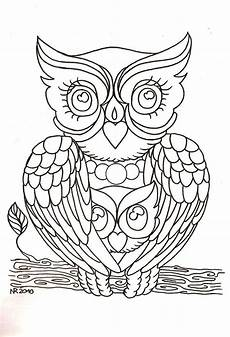 owl mendhi mandala eule ausmalen und