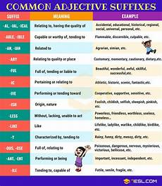 suffix 30 common suffixes with definition exles 7