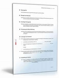 Aufhebungsvereinbarung Mietvertrag Muster Vorlage Zum