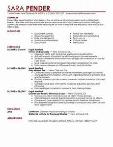 resume format legal asistant best legal assistant resume exle livecareer