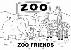 Easy Zoo Coloring Pages Coloring Pages Great For Nursery Pre K Or Kindergarten