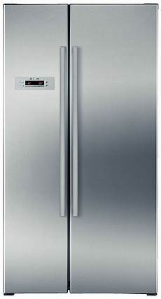 bosch 678l side by side platinum silver fridge
