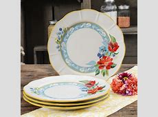 The Pioneer Woman Spring Bouquet 4 Piece Dinner Plate Set